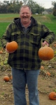 Howard with Pumpkins
